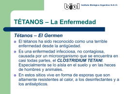 TÉTANOS – La Enfermedad