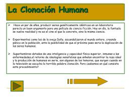 Practica2: la clonación humana