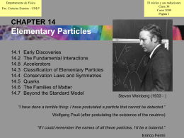 CHAPTER 14: Elementary Particles