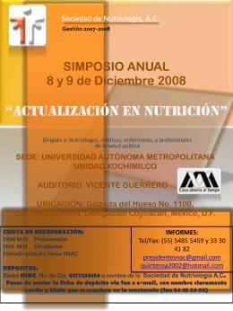 simposio anual - Fomento de Nutrición y Salud