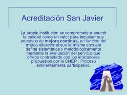 Acreditación San Javier