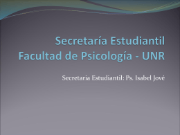 Secretaría Estudiantil Facultad de Psicología