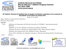 Instituto Nacional de Calidad Rincón 528 piso 1 Edificio