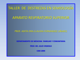 taller de destrezas en semiología aparato respiratorio