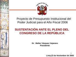 Poder Judicial - Congreso de la República del Perú