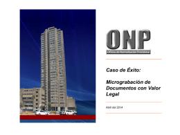 Caso de ÉXITO ONP, Acreditación Digital, Mejorando la