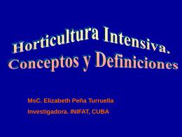 Clase 2 Horticultura Intensiva. Conceptos y