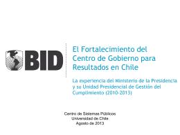 Presentación Mariano Lafuente estudio BID Centro de Gobierno