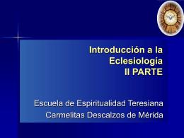 eclesiologia2 - Carmelitas Descalzos Venezuela