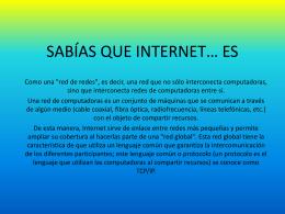 2. Presentación de internet