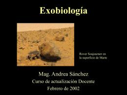 Actualización en exobiología