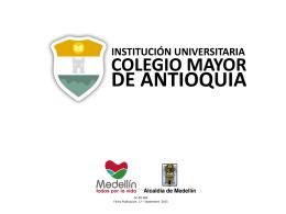 contacto - Colegio Mayor de Antioquia
