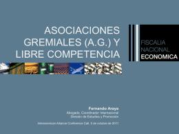 Prácticas monopólicas, cámaras empresariales y asociaciones de