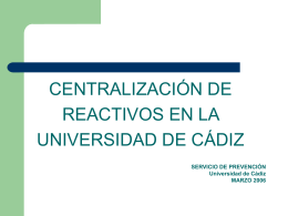 Diapositiva 1 - Universidad de Cádiz
