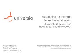 Posibilidades de estrategias de Internet en las Universidades