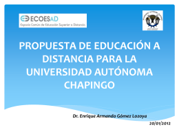 propuesta de educación a distancia para la universidad autónoma