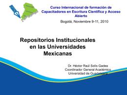 Repositorios Institucionales en las Universidades