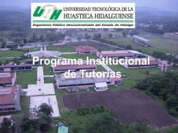 Programa Institucional de Tutorías - Universidad Tecnológica de la