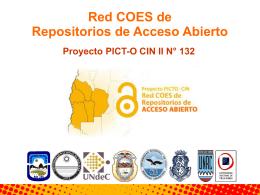 Red COES de Repositorios de Acceso Abierto Proyecto PICT