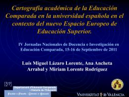 Cartografía académica de la Educación Comparada en la