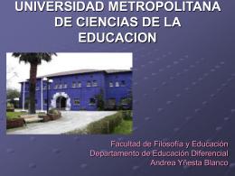 UNIVERSIDAD METROPOLITANA DE CIENCIAS DE LA EDUCACION