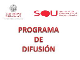 Programa de difusión USAL (2013/2014): acceso a la Universidad