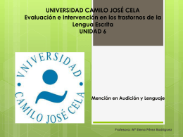 UNIVERSIDAD CAMILO JOSÉ CELA Evaluación e