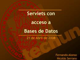 Servlets con acceso a Bases de Datos