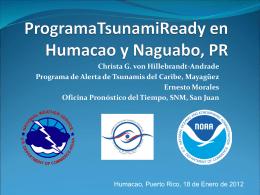 Programa Tsunami Ready en Humacao