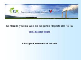 Nuevo Sitio Web RETC