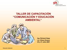 "Taller de capacitación ""comunicación y educación"