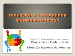 Inducción del personal - Dirección Nacional de Aduanas