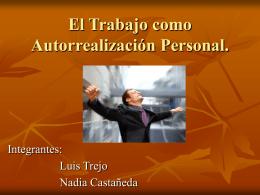 El Trabajo como Autorrealización Personal