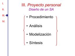 III. Proyecto personal Diseño de un SA