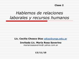 Selección de Personal - Profesor Jorge CAMBLONG