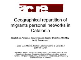 El paper dels barris en les xarxes socials a Catalunya. Una