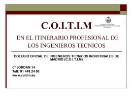 otros servicios - Colegio Oficial de Ingenieros Técnicos Industriales