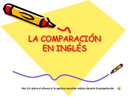LA COMPARACIÓN EN INGLÉS