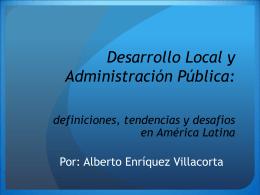 Desarrollo Local y Administración Pública: definiciones
