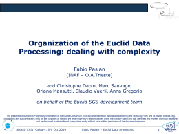 Organization of the Euclid Data Processing