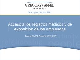 Norma 29 CFR Sección 1910,1020