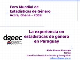 Integración del enfoque de género en la ENREP