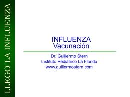 Vacunas contra la Influenza - Guillermo Stern Pediatra en Caracas