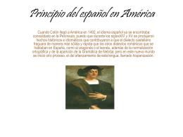 Principio del español en América