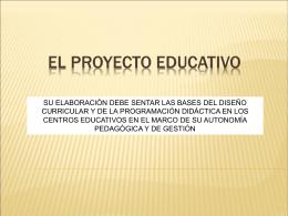 el proyecto educativo - CEP de Alcalá de Guadaíra