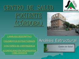 CENTRO DE SALUD PONIENTE (CÓRDOBA)