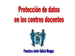Proteccion de datos en centros docentes