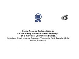 DEVIA_LEILA, Centro Regional Sudamericano de CAPACITACION