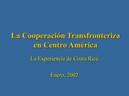 La Cooperación Transfronteriza en Centro América