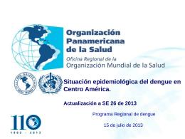 Dengue en Centro América y República Dominicana, Julio 2013